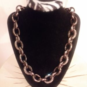 Coldwater Creek link necklace with rhinestone